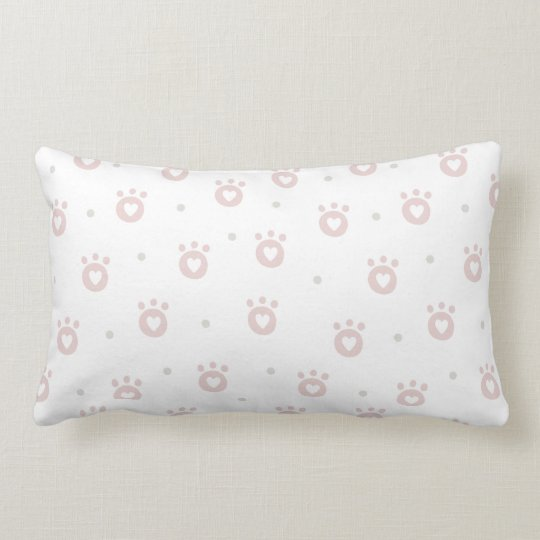 Cute Pet Paws with Hearts Pillow |