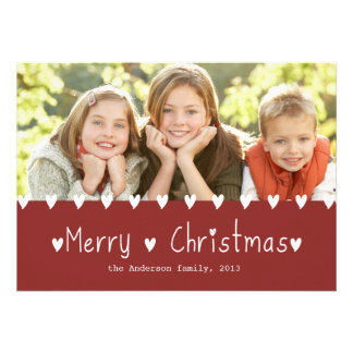 Cute Photo Holiday Greeting Card | Rust Red