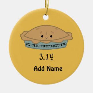 Cute Pi Day 3.14 Ceramic Ornament