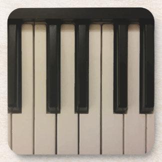 Cute Piano Keys Print Coaster