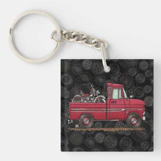Cute Pickup Cycle Single-Sided Square Acrylic Key Ring