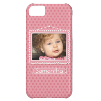 Cute picture frame with polkadots iPhone 5C covers