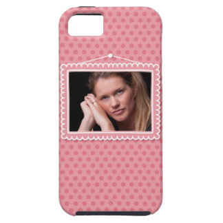 Cute picture frame with polkadots iPhone 5 covers