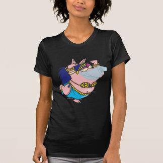 cute pig belly dancer cartoon character T-Shirt