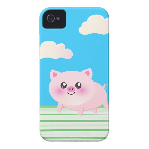 Cute pig cartoon iPhone 4 case