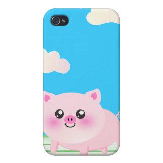 Cute pig cartoon iPhone 4/4S cases