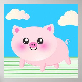 Cute pig cartoon print