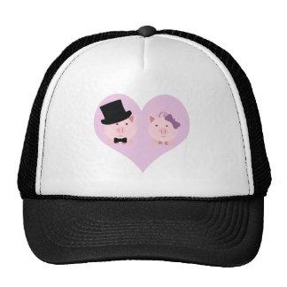 Cute Pig Couple Mesh Hats