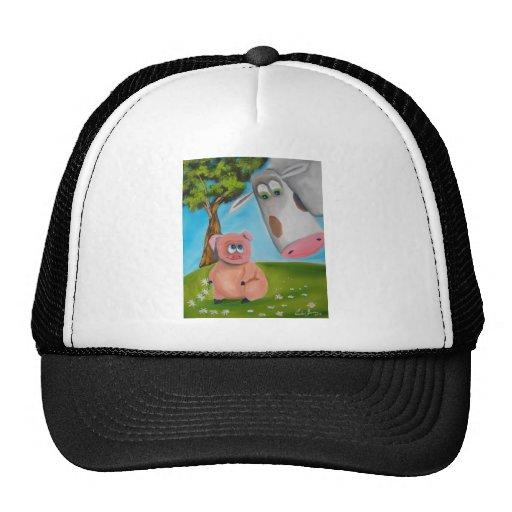 cute pig cow daisy chain hats