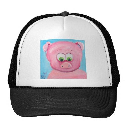 CUTE PIG FACE TRUCKER HATS