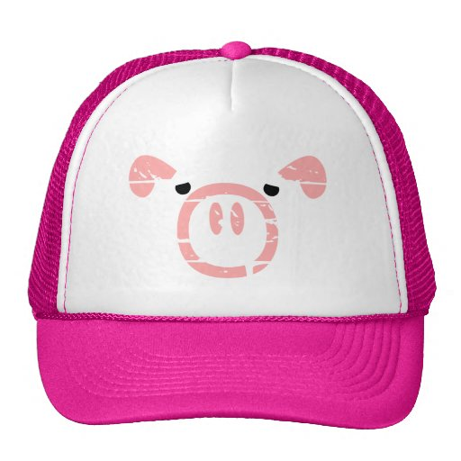 Cute Pig Face illusion. Trucker Hat