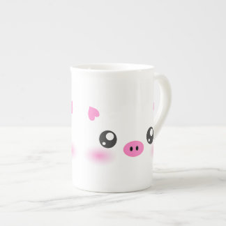 Cute Pig Face - kawaii minimalism Bone China Mug