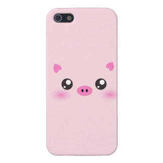 Cute Pig Face - kawaii minimalism Case For The iPhone 5