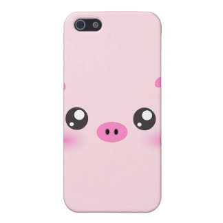 Cute Pig Face - kawaii minimalism iPhone 5/5S Cases