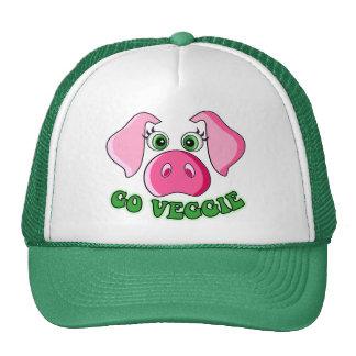 Cute pig, go veggie cap