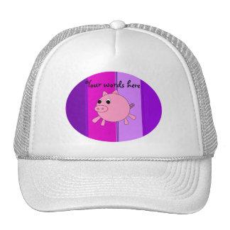 Cute pig trucker hats