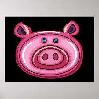 Cute Pig Head Poster