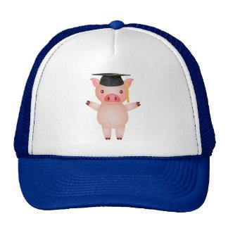 Cute Pig in Graduation Cap
