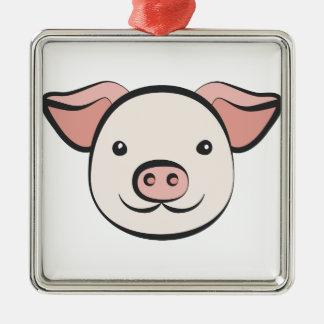 Cute Pig Metal Ornament