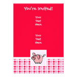 Cute Pig Personalized Invitation