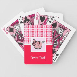 Cute Pig Bicycle Poker Deck