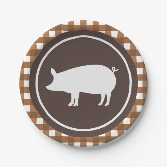 Cute Pig roast party plate