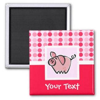 Cute Pig Square Magnet