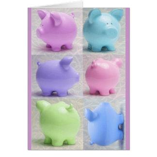 Cute Piggy Collage Cards