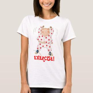 Cute Piggy Exercising T-Shirt