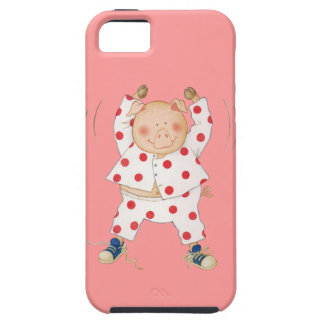 Cute Piggy Exercising Tough iPhone 5 Case