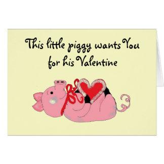 Cute Piggy Valentine Card