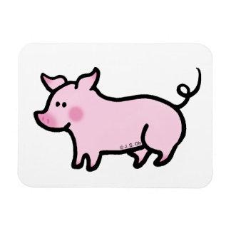Cute piglet rectangular photo magnet
