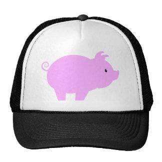 Cute Piglet Silhouette Trucker Hats