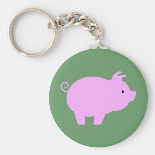 Cute Piglet Silhouette Keychain