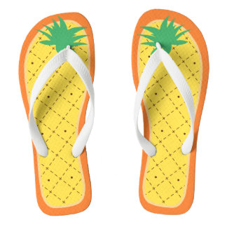 Cute Pineapple Funny Summer Tropical Fruit Style Thongs