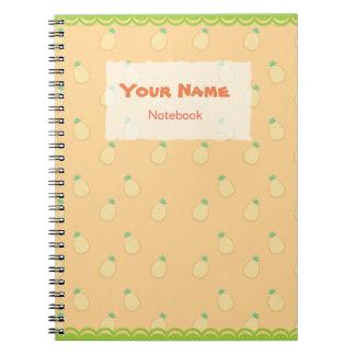 Cute Pineapple Pattern Notebook