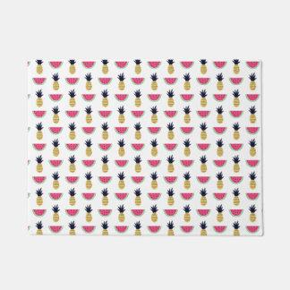 Cute Pineapple & Watermelon Doodle Pattern Doormat