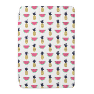 Cute Pineapple & Watermelon Doodle Pattern iPad Mini Cover