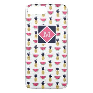 Cute Pineapple & Watermelon Doodle Pattern iPhone 8 Plus/7 Plus Case