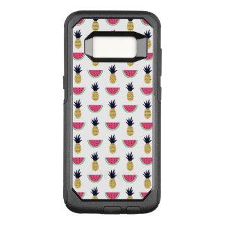 Cute Pineapple & Watermelon Doodle Pattern OtterBox Commuter Samsung Galaxy S8 Case