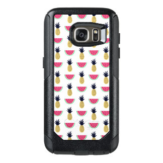 Cute Pineapple & Watermelon Doodle Pattern OtterBox Samsung Galaxy S7 Case