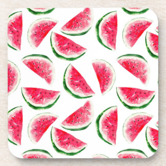 Cute Pineapple & Watermelon Pattern Coaster