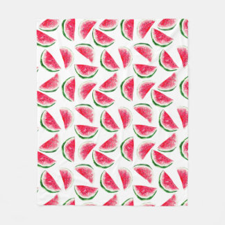 Cute Pineapple & Watermelon Pattern Fleece Blanket