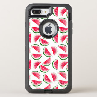 Cute Pineapple & Watermelon Pattern OtterBox Defender iPhone 8 Plus/7 Plus Case