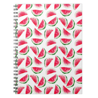 Cute Pineapple & Watermelon Pattern Spiral Notebook