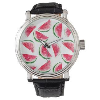 Cute Pineapple & Watermelon Pattern Watch