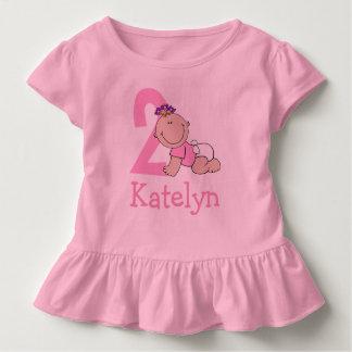 Cute Pink 2nd Birthday Toddler T-Shirt