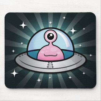 Cute Pink Alien Mousepad