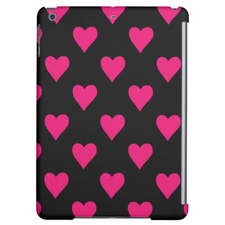 Cute Pink and Black Heart Pattern