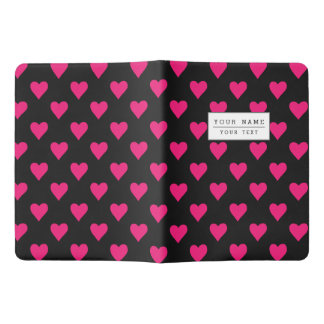 Cute Pink and Black Heart Pattern Extra Large Moleskine Notebook